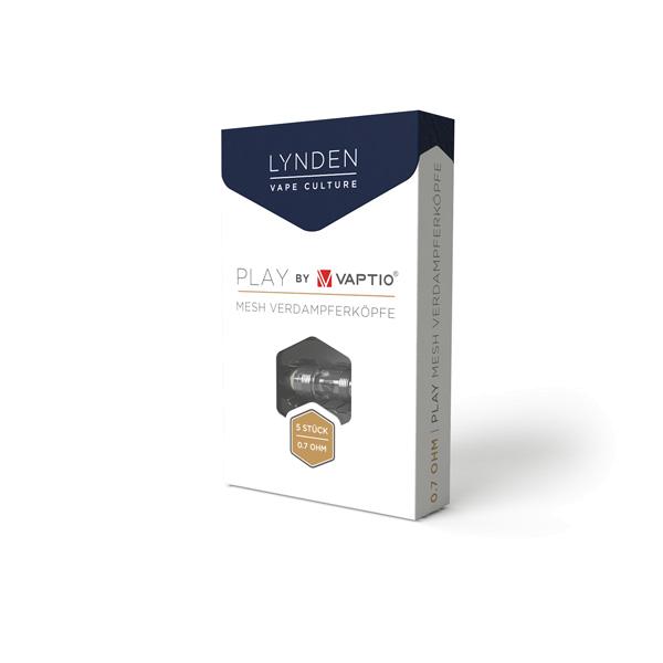 Lynden Play Coils Verdampferkopf Mesh 0.7 Ohm (5 Stück)