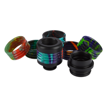 12 in 1 Resin Drip Tip 810er/510er Adapter Black