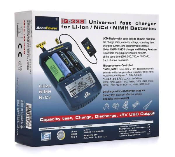 Accu Power IQ338 Intelligentes Ladegerät